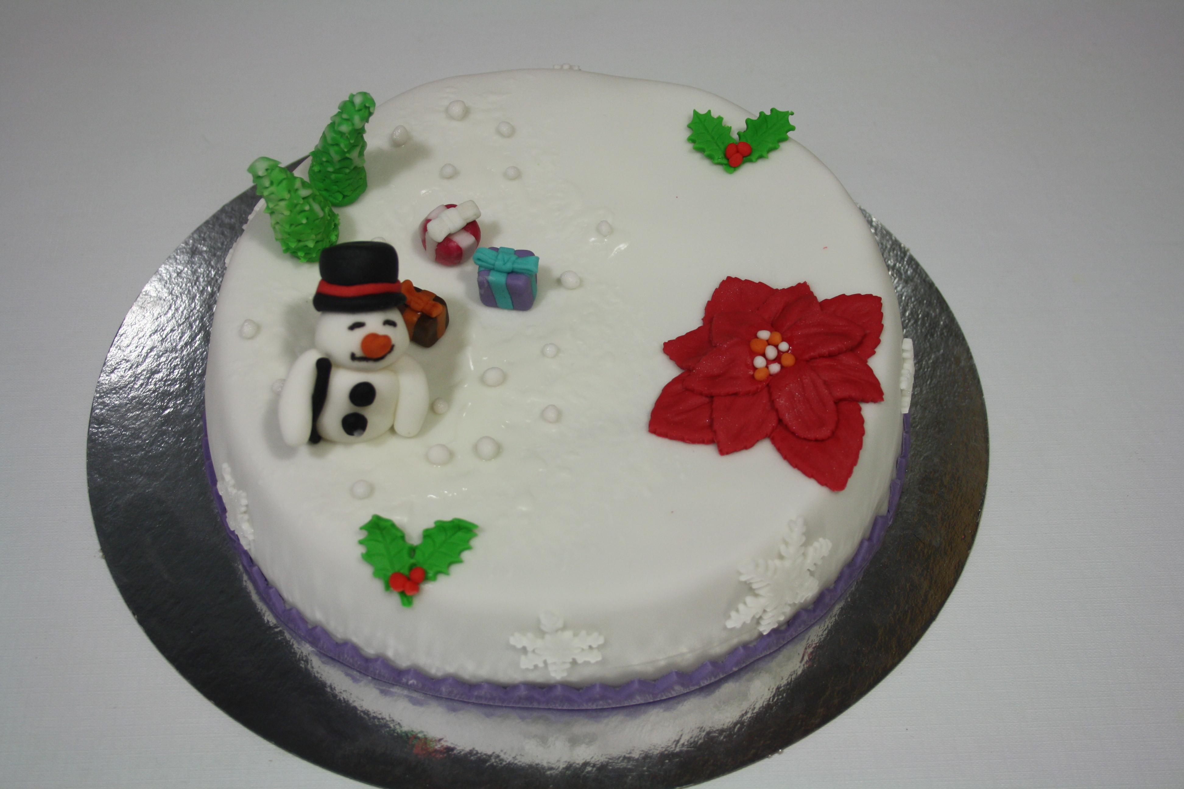 Tartas decoradas de Navidad.