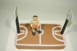 tarta personalizada cancha de baloncesto 5