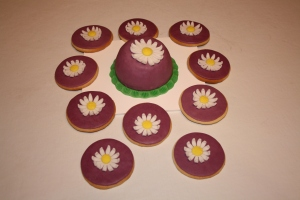 galletas y minitarta flor margarita 2