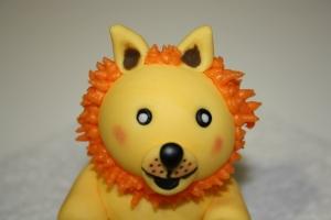 modelado fondant leon 1