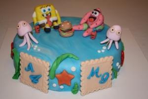 tarta infantil bopesponja y patricio fondo del mar 2