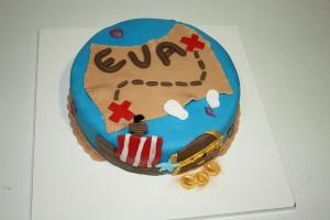 tarta pirata con mapa del tesoro 1