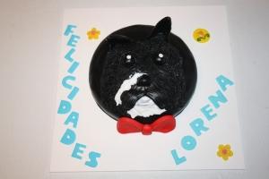 tarta perro pajarita 1