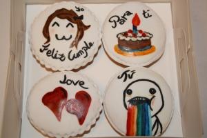 cupackes pintadas a mano memes 2