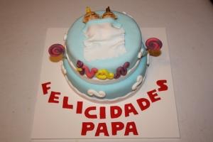 tarta pisos cumpleac3b1os papa mellizos 2