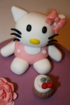 Tarta Hello Kitty cupcake dos pisos (6)