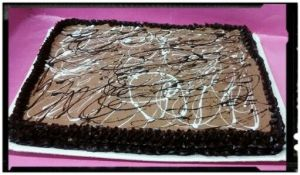 tarta galletas con chocolate