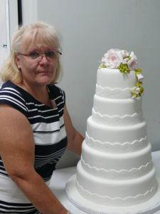 tarta boda blanca flores