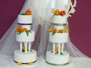 tartas bodas pisos flores